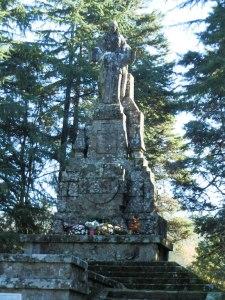El monumento de Asorey en Monte Maráns